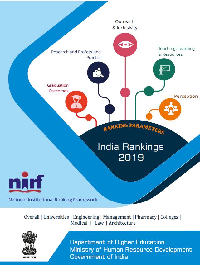 NIRF 2019 National Institutional Ranking Framework